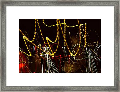 Amusement Park Framed Print by Lynda Lehmann