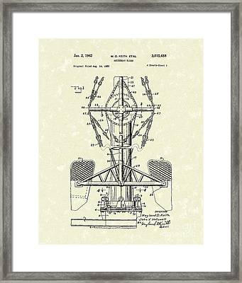 Amusement Ride 1962 Patent Art Framed Print