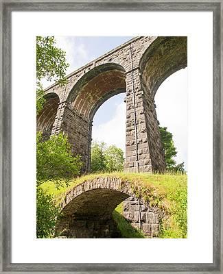 An Ancient Packhorse Bridge In Dentdale Framed Print by Ashley Cooper