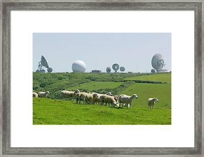 An Early Warning Radar Station Framed Print
