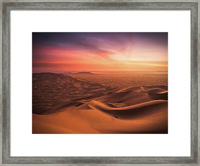An End And A Beginning Framed Print