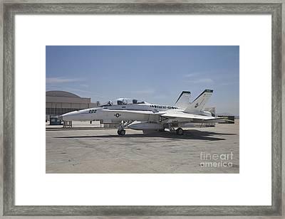 An Fa-18b Hornet In Centennial Markings Framed Print by Timm Ziegenthaler