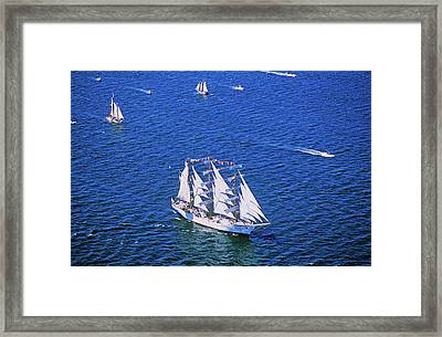An Indonesian Ship In The Liberty 100 Framed Print