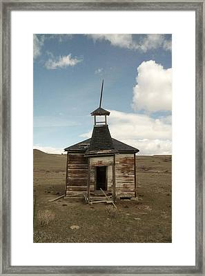 An Old Montana School House  Framed Print