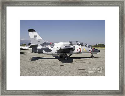An S-211 Jet Trainer Aircraft Framed Print by Luca Nicolotti