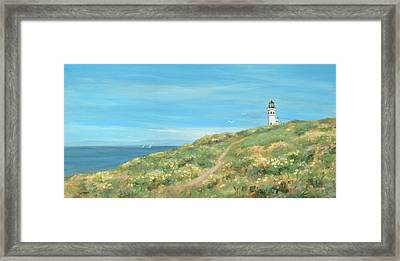 Anacapa Lighthouse Study Framed Print by Tina Obrien