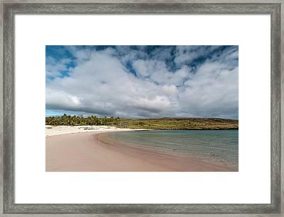 Anakena Beach, Rapa Nui, Easter Island Framed Print by Sergio Pitamitz