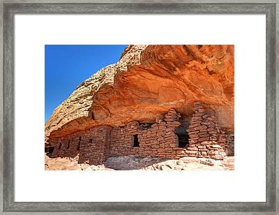 Anasazi Citadel Ruin - Cedar Mesa Framed Print