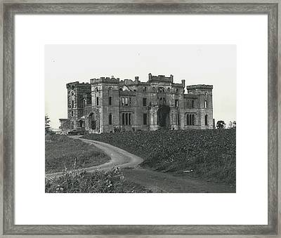 Ancient Castle Goes Up In Smoke. Blown Up By 500 Of Framed Print by Retro Images Archive