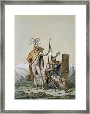 Ancient Celtic Warriors Dressed Framed Print