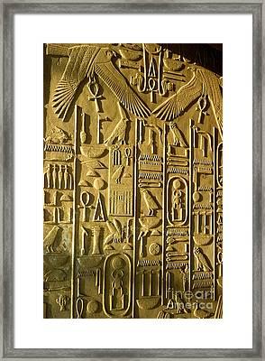 Ancient Egyptian Hieroglyphs Framed Print