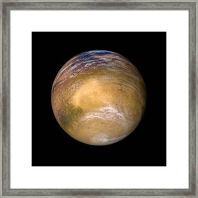 Ancient Mars Framed Print by Detlev Van Ravenswaay