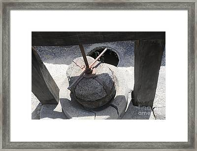 Ancient Olive Press Kursi Israel Framed Print by PhotoStock-Israel