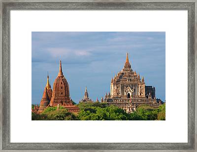 Ancient Temples And Pagodas, Bagan Framed Print by Keren Su