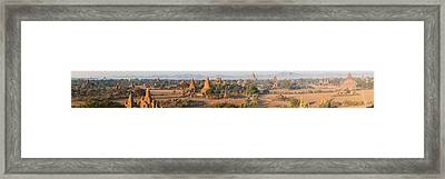 Ancient Temples In Bagan, Mandalay Framed Print by Panoramic Images