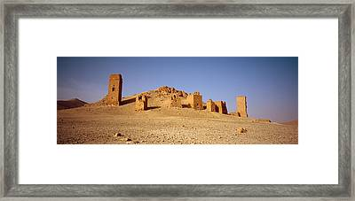 Ancient Tombs On A Landscape, Palmyra Framed Print