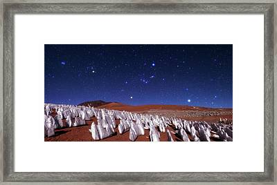 Andean Ice Field At Night Framed Print by Babak Tafreshi