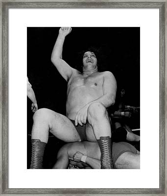 Andre The Giant Framed Print by Retro Images Archive