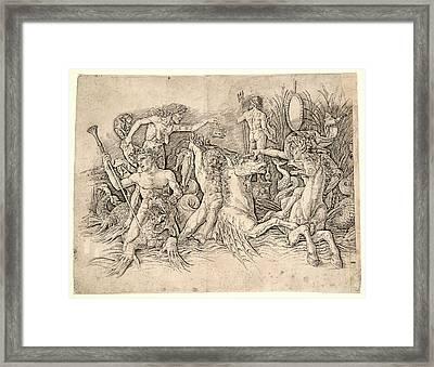 Andrea Mantegna Italian, Ca. 1431 - 1506. Battle Framed Print by Litz Collection