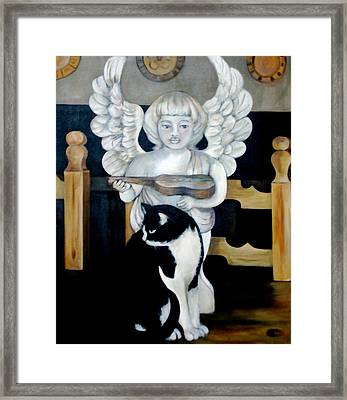 Andy And The Angel Framed Print