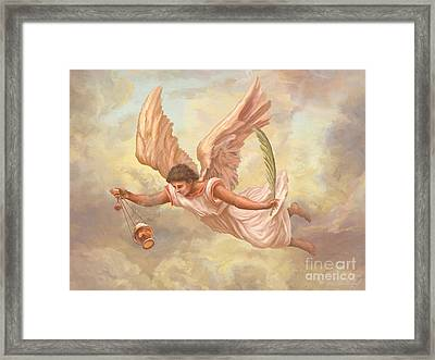 Angel Blessing Framed Print by John Alan  Warford