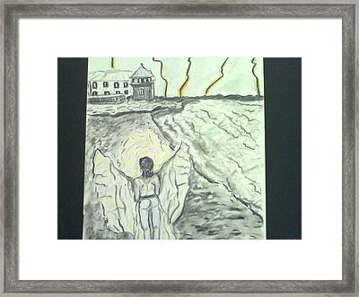 Angel In A Storm Framed Print