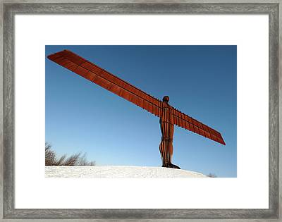Angel Of The North Framed Print by Public Health England