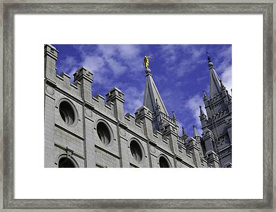 Angel On The Temple Framed Print