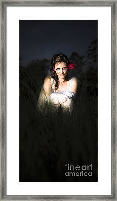 Angel Sitting In The Darkness Framed Print by Jorgo Photography - Wall Art Gallery
