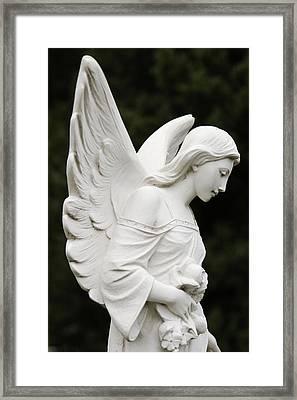 Angel Statue Framed Print