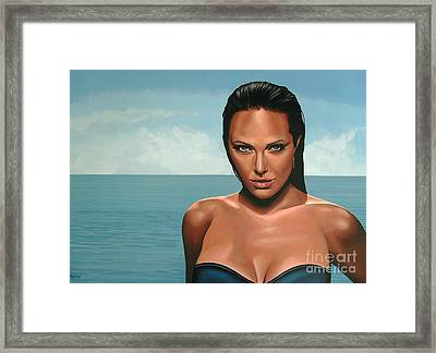Angelina Jolie Framed Print by Paul Meijering