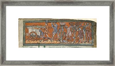 Anglo-saxon Calendar Framed Print by British Library