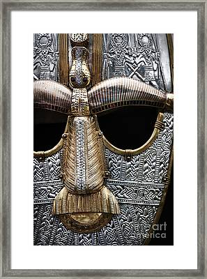 Anglo Saxon Helmet Detail Framed Print by Tim Gainey
