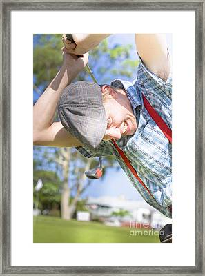 Angry Golfer Framed Print by Jorgo Photography - Wall Art Gallery