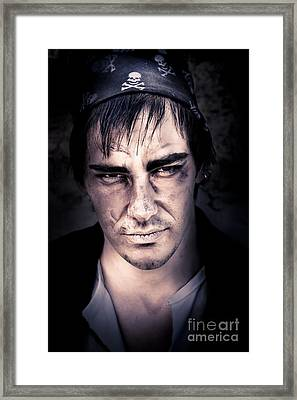 Angry Pirate Framed Print