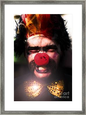 Angry The Clown Framed Print by Jorgo Photography - Wall Art Gallery