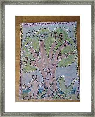 Animal Tree Animal Time Framed Print by Lois Picasso