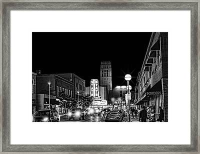 Ann Arbor Nights Framed Print
