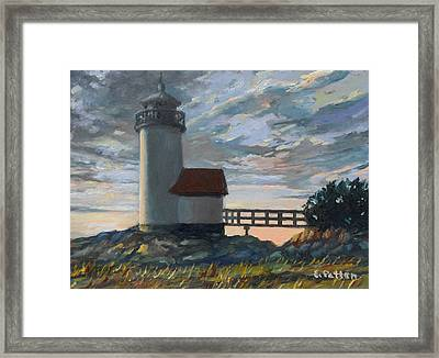 Annisquam Light Framed Print by Eileen Patten Oliver
