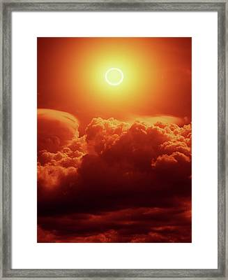 Annular Solar Eclipse Framed Print by Detlev Van Ravenswaay