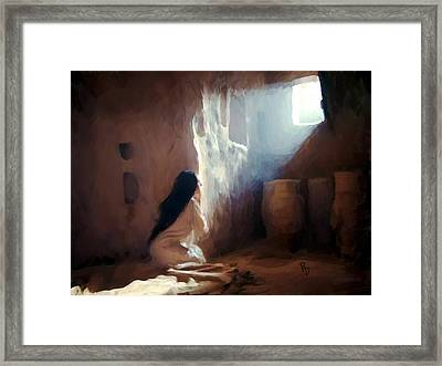 Annunciation Of Mary Framed Print by Ric Darrell