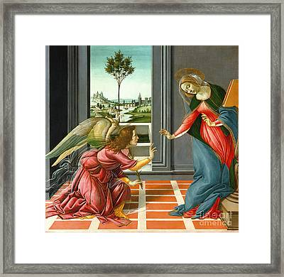 Annunciation Framed Print by Sandro Botticelli