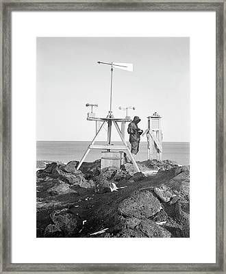 Antarctic Meteorology Research Framed Print by Scott Polar Research Institute