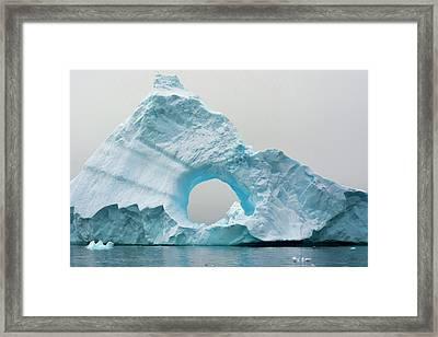 Antarctica Charlotte Bay Giant Iceberg Framed Print by Inger Hogstrom