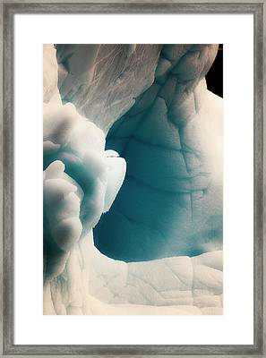 Antarctica Close-up Of An Iceberg Framed Print by Janet Muir