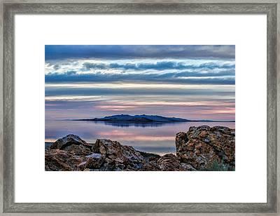 Antelope Island Sunset - 7 Framed Print by Ely Arsha