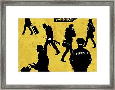 Anti-terrorism Police Framed Print by Smetek