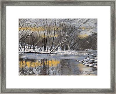 Antietam Creek Framed Print by David Zimmerman