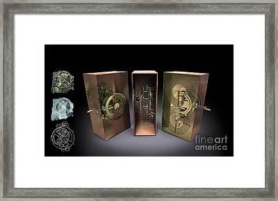 Antikythera Mechanism, Artwork Framed Print by Jose Antonio Pe??as
