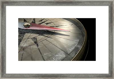 Antique Compass Closeup Framed Print by Allan Swart